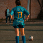 Canva - Person In Blue Soccer Jersey Standing In Front Of Ball